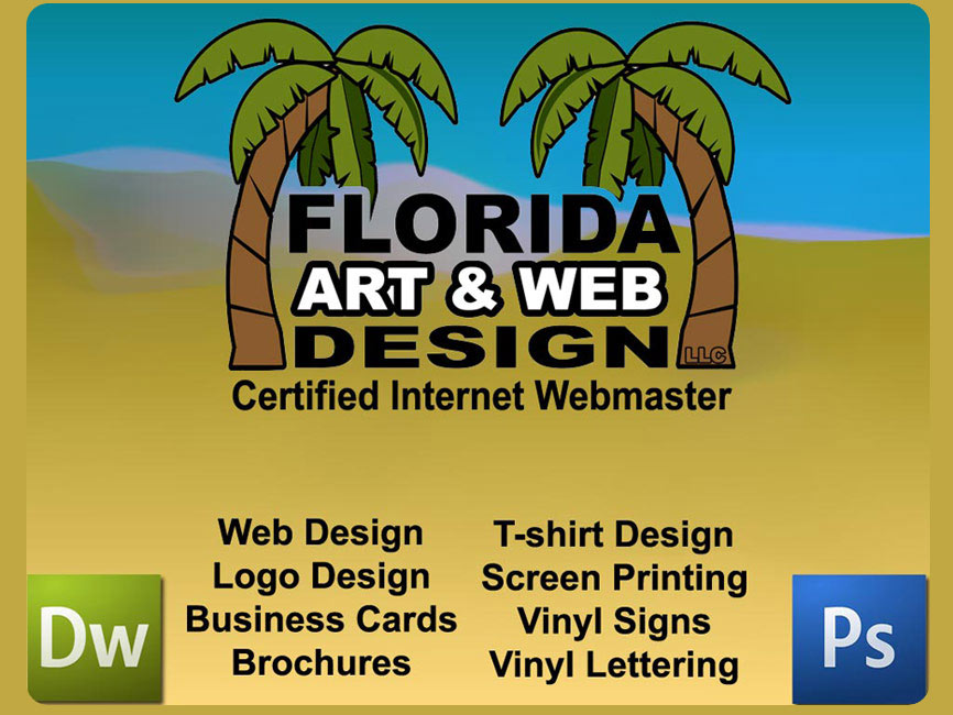 Florida art and web design graphics t shirt printing for Business cards for t shirt business